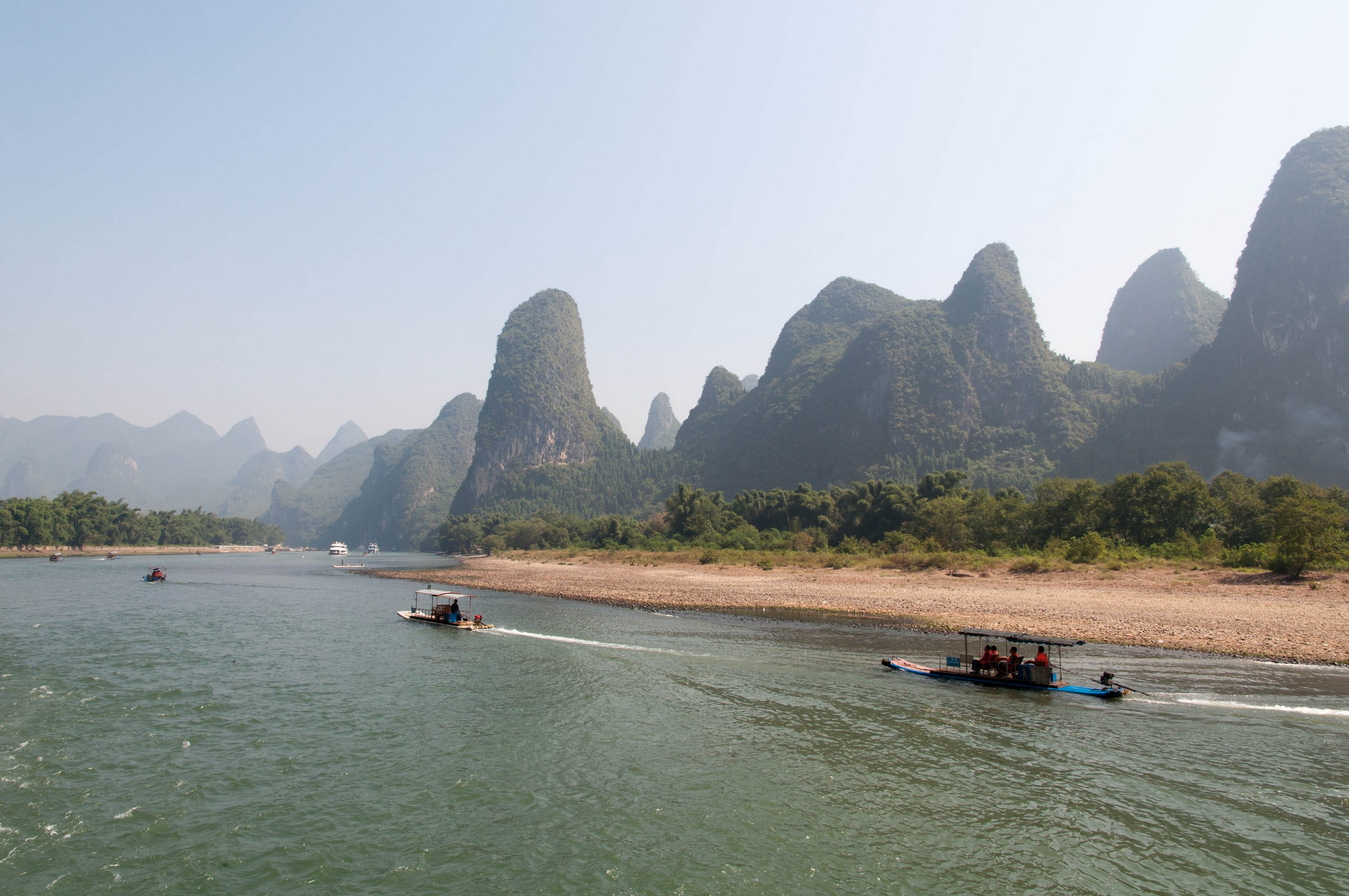 Guilin day/jour 1 – The river Li/La rivière Li