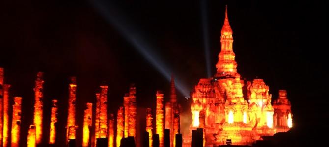Festival des lumières à Sukhothai